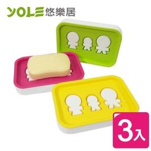 【VICTORY】抗菌人型肥皂盒 (3入組)#1425021