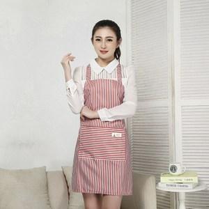 【三房兩廳】時尚袖套防水圍裙/工作圍裙 (粉色2件)