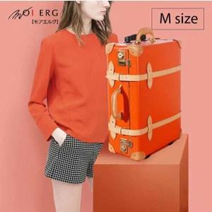 Bonjour復古背包客 vulcanized fibre trunk (M-21吋) Orange