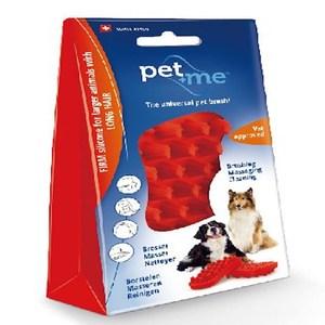 Pet+Me瑞士進口多功能寵物按摩梳 紅色 長毛狗、大型長毛狗按摩梳 紅色 長毛狗、大型長