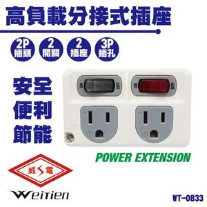 威電牌 WT-0833 高負載分接式插座