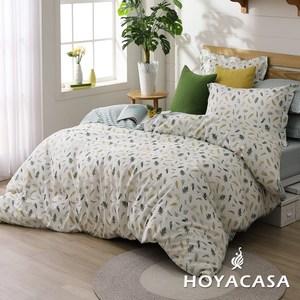 【HOYACASA】清新邂逅加大200織抗菌精梳棉兩用被床包四件組