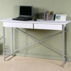 Homelike 超值附抽工作桌-寬120公分-純白色