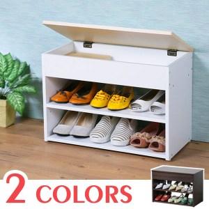 【Homelike】雅緻掀蓋式穿鞋椅-楓木+白色