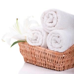 【花季】優雅生活-五星級飯店御用白色平織方巾*5件組