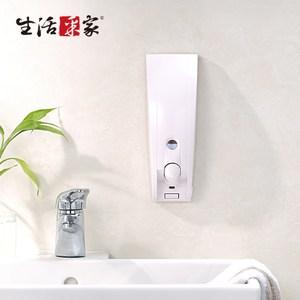【生活采家】幸福手感純白典雅350ml單孔手壓式給皂機(#47029)