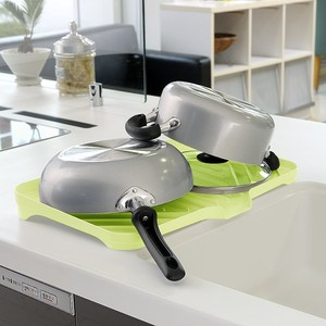 【促銷】日本製造Richell銀離子寬大型瀝水收納盤(蘋果綠)