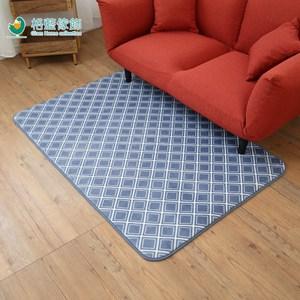 【格藍傢飾】新潮流舒壓吸水防滑地毯-格紋藍