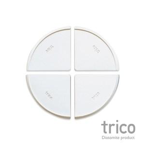 日本Trico 無垢珪藻土圓餅多功能餐墊10x10cm