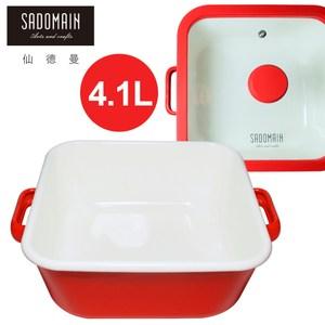 【仙德曼 SADOMAIN】 琺瑯方鍋(深)4.1L