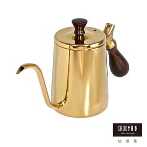 【仙德曼 SADOMAIN】316咖啡細口壺(金鈦膜)600ml