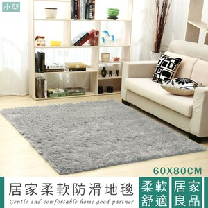 IHouse-家用客廳臥室柔軟防滑地毯-小型 (60x80cm)白色