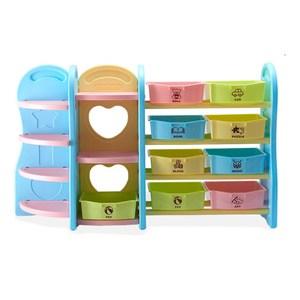 【IDEA】歐規多樣組合兒童玩具收納架/書架(大組)