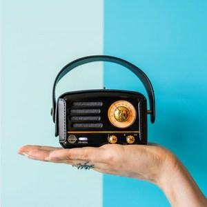 MUZEN OTR Metal 經典復刻藍牙音響收音機(豪華版)-英倫黑