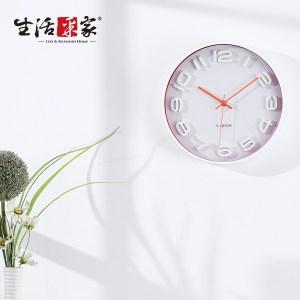 【生活采家】Talk Time淨白橘時尚靜音掛鐘#14005入