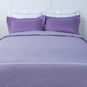 HOLA 艾維卡埃及棉刺繡被套 加大 紫色