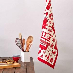 【英國蛋】純棉碗盤擦布 模型耶誕節紅色