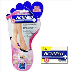 New!艾迪美 ACTIMED泡腳粉(30g)*12+抗菌皂*12
