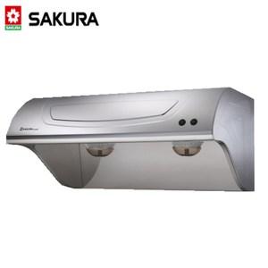 【櫻花】 斜背式不鏽鋼除油煙機(R-3250SXL)-不鏽鋼90CM