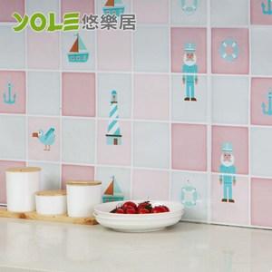 【YOLE悠樂居】繽紛創意設計款廚房自黏防油壁貼(2入)-冒險老船長