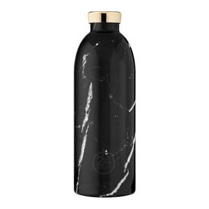 義大利 24Bottles 不鏽鋼雙層保溫瓶850ml - 黑雲石