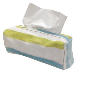 藍綠條紋面紙盒套.