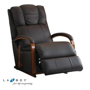 La-Z-Boy 搖椅式休閒椅 10T532 半牛皮 黑色