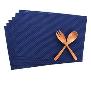 LOVEL 歐美風手作編織感餐墊 經典寶藍(6入組)