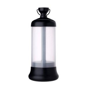 多功能伸縮開關露營燈/警急照明燈 USB充電 磁鐵可吸附黑色