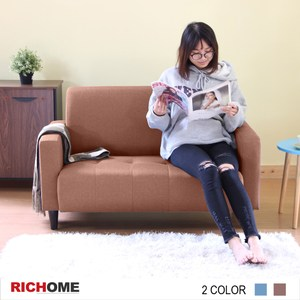 【RICHOME】激安雙人沙發-咖啡