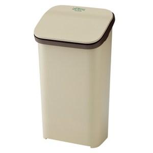 【日本 RISU】Latte Style按壓式垃圾桶 19L -米色