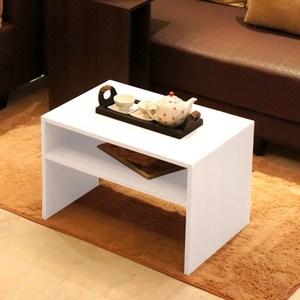 《C&B》樂庭日式兩用茶几桌/邊桌-白色