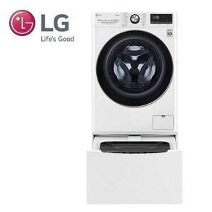 (贈國際牌吹風機)LG雙能洗洗衣機WD-S105VDW(蒸洗脫烘)+WT-D200HW