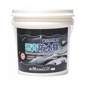 貓王水性橡化瀝青防水膠13.5L黑
