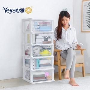 【也雅Yeya】時尚透明五層抽屜收納櫃