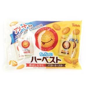 日本 東鳩 芝麻&奶油微笑脆餅 6袋裝 162g