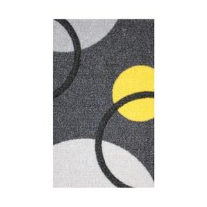 炫彩地毯200x260cm黑黃