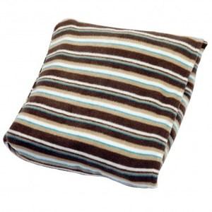 可收納印花隨身毯條紋