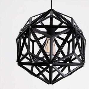 QUALY|三角幾何-燈罩(鏤空黑)