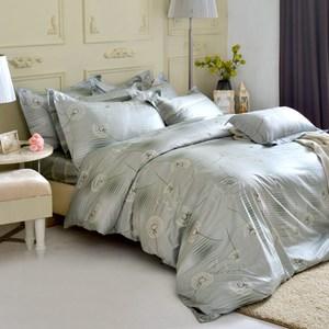 MONTAGUT-蒲公英爵士-300織精梳棉兩用被床包組(雙人)