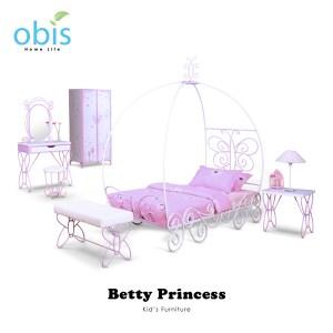 obis Kids Neverland 兒童房間貝蒂公主系列全組-床架 桌椅 衣櫃