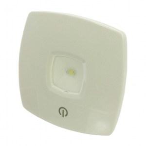ELPA日本朝日方型按壓開關白光LED小夜燈_電池式