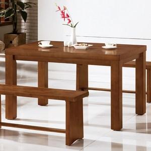 【YFS】亞伯全實木4.3尺餐桌-130x85x75.6cm