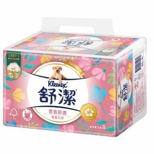 【舒潔】香氛舒適微風花漾抽取衛生紙(100抽x8包x8串/箱)