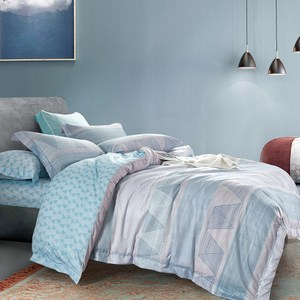 送-舒眠枕【DON夏天的風】雙人四件式吸濕排汗天絲兩用被床包組