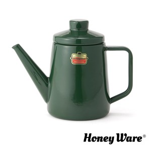 日本Honey Ware Solid富士琺瑯手沖壺1L-森林綠