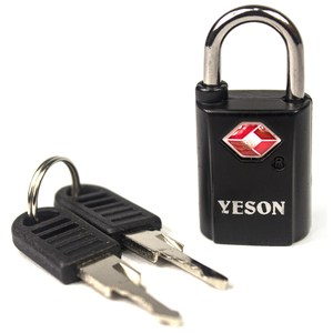 YESON 歐美海關專用TSA旅用鑰匙鎖-二色可選 MG-2513黑