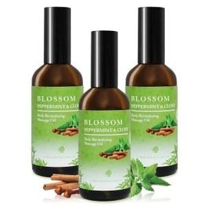 【BLOSSOM】薄荷丁香舒緩賦活彈力按摩油(100ML/瓶 共3瓶)