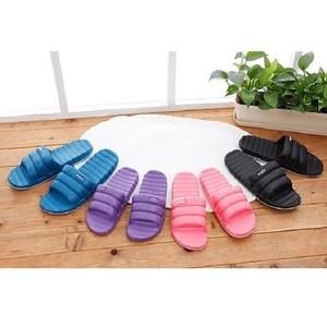 (e鞋院)羽絨風室內室外拖鞋黑27cm