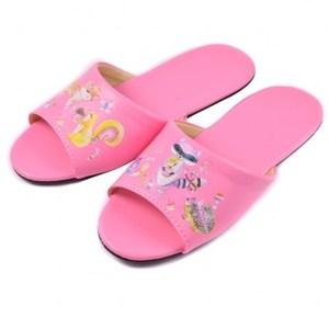 彩繪樂園兒童皮拖鞋 粉色M